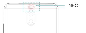 Mate9に機種変更:NFCをかざす位置は…本体裏側カメラの上だよ